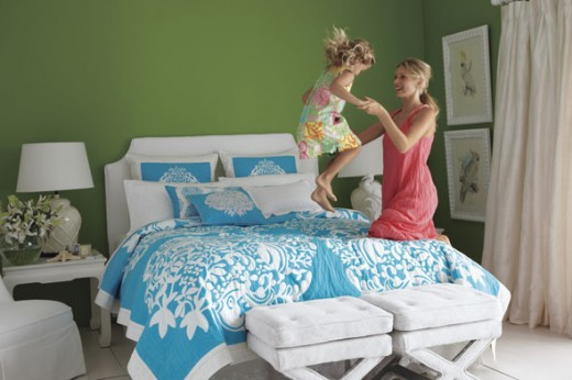 Lilly Pulitzer Home For Garnet Hill Teal Comforter 590sc032810 520×346