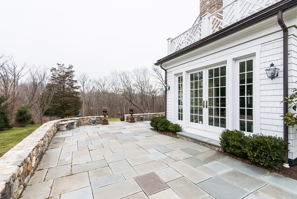 Terrace off the sunroom, lovely for summertime entertaining.