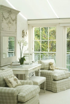 An idea for the sun room off the living room. By Henrietta Spencer-Churchill