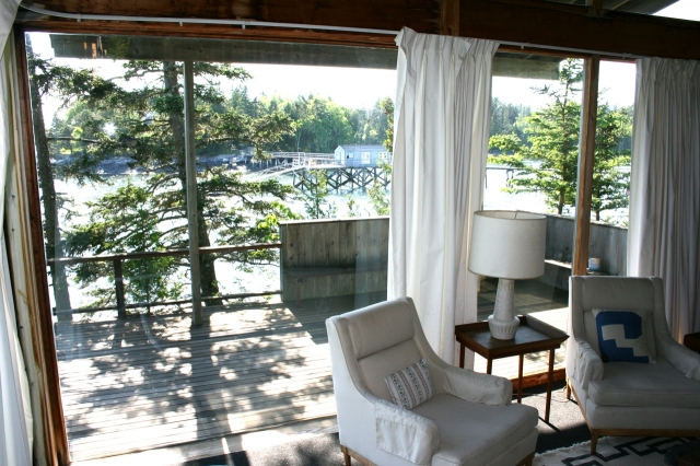 Sitting indoors or out, you feel the water and the magic of this island from inside these four walls.