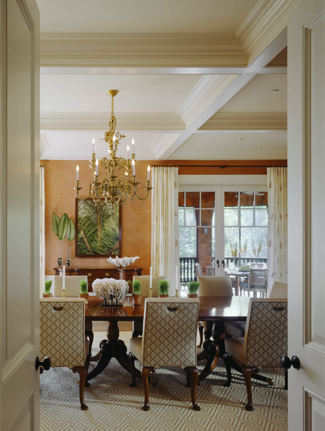An example of Ellie Cullman's work.  Elegant and sophisticated.  Wonderful if you are looking for a formal dining room.