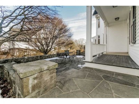 "Great stone terrace and pool area.  Pool is ""as is"", but there is huge potential!"