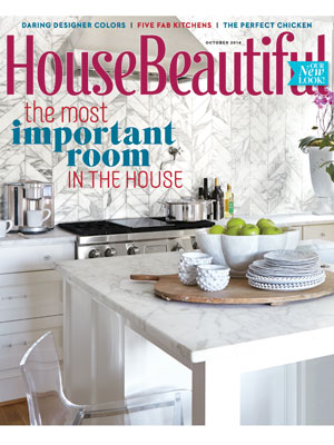 October 2014 issue of House Beautiful.