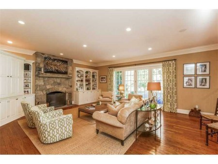 And, make no mistake, this family room off the kitchen is where everyone will wind up at the end of the day.  Very comfortable.