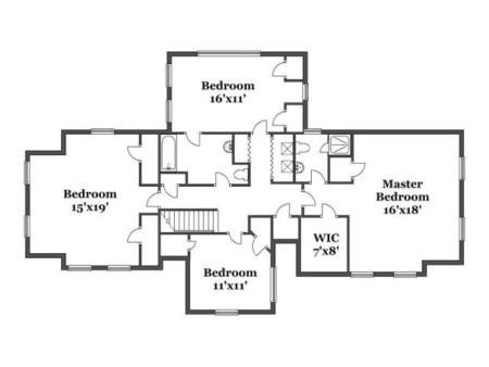 Expansion possibilites for the master and master bath could be considered.