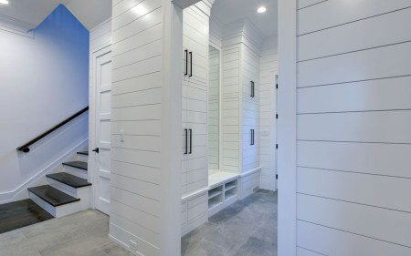 The chicest mudroom.
