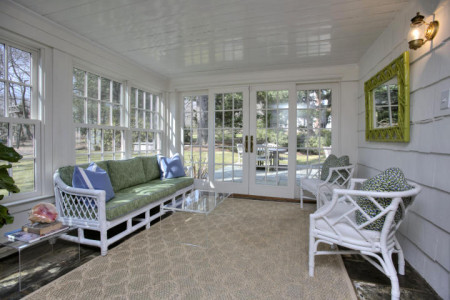 The Conservatory… or what everyone calls the sunroom.