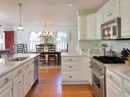 Open kitchen and dining is very appealing.