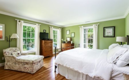 Large and light Master bedroom over looking the garden. It's really a lovely room and very spacious.