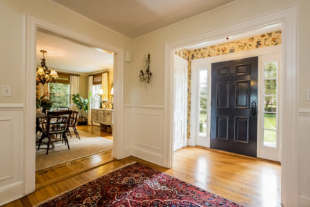 wide open doors and and gracious rooms create a very inviting first floor.